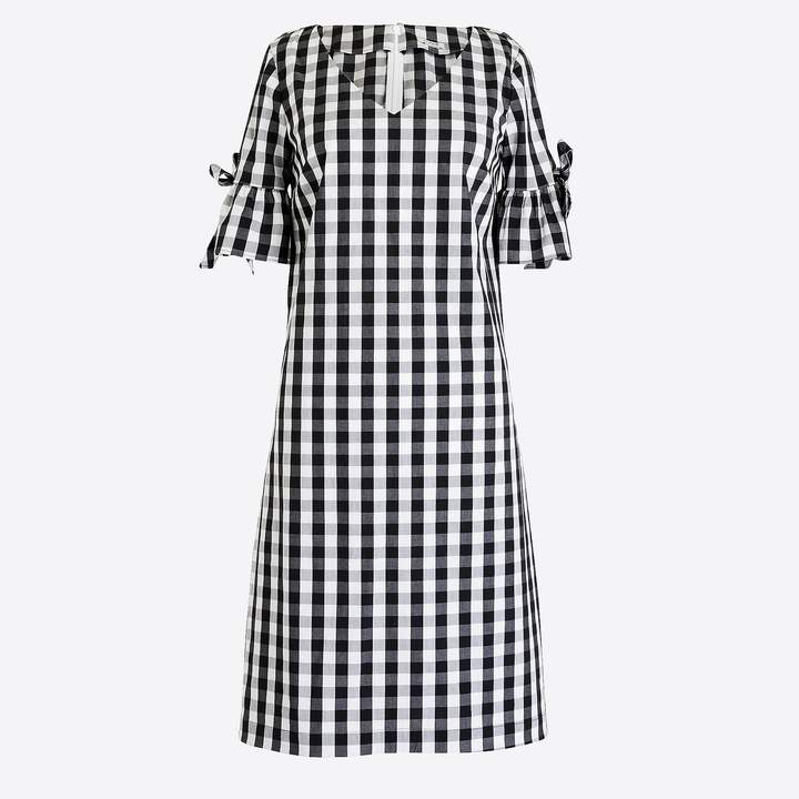 J.Crew Tie-sleeve dress in gingham