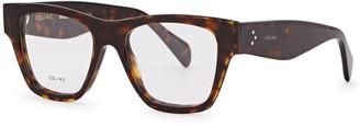Celine Tortoiseshell wayfarer-style optical glasses