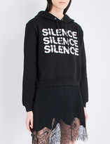 McQ Silence cropped cotton-jersey hoody