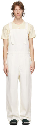Lanvin White Wool Overalls