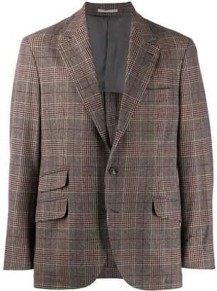 Brunello Cucinelli classic check blazer