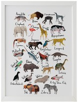 James Barker Animals Alphabet Print