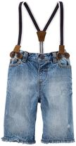 Osh Kosh Baby Boy Suspender Denim Shorts