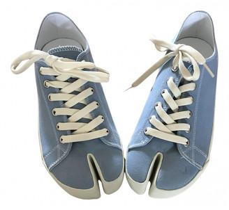 Maison Margiela Blue Cloth Trainers