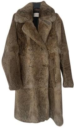 Sandro Beige Rabbit Coat for Women