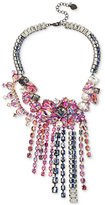 Betsey Johnson Two-Tone Multi-Stone Graffiti Statement Necklace