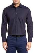 Toscano Men's Pin Dot Jacquard Sport Shirt