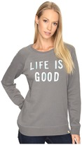 Life is Good Go-To Long Crew Sweatshirt Women's Sweatshirt