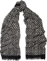 Diane von Furstenberg Paintery printed chiffon scarf