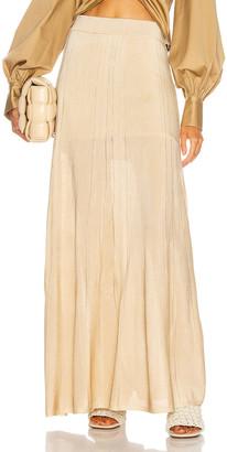 Auteur Fleur Pleat Knit Skirt in Gold | FWRD