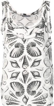 Alexander McQueen Shell Print Tank Top