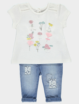 George Top and Jeans Set