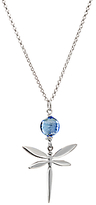 Murano Martick Glass Dragonfly Necklace