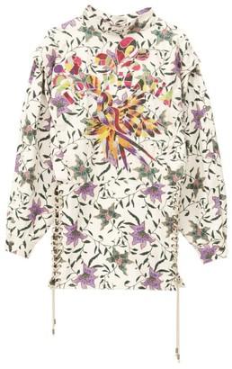 Isabel Marant Cotton Givens Lace-Up Mini Dress