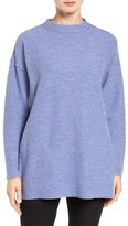 Eileen Fisher Women's Lightweight Boiled Wool Mock Neck Pullover