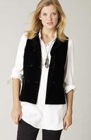 J. Jill Band-collar velvet vest