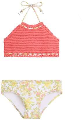 Zimmermann Goldie Crochet Halter Bikini
