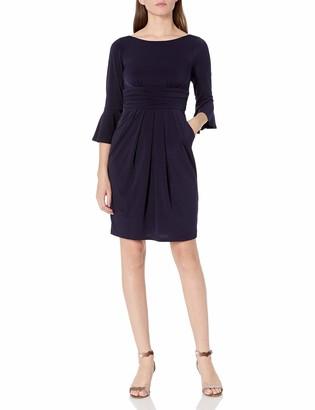 Brinker & Eliza Women's Sheath Dress with Flounce Sleeve