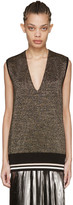 Lanvin Gold Lurex Tank Top