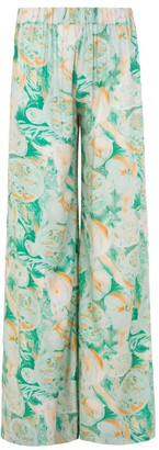 A Line Clothing Flowy X-Ray Print Trousers