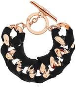 Amanda Wakeley Chunky Rose Gold Ribbon Bracelet