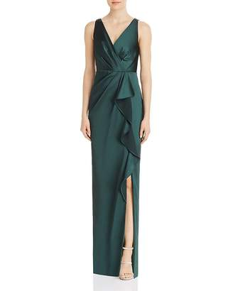 Adrianna Papell Draped Full-Length Gown