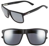 Gucci Men's 57Mm Sunglasses - Havana/ Gray Green