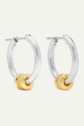 Spinelli Kilcollin Ara Sterling Silver And 18-karat Gold Diamond Hoop Earrings