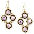 alexis bittar mosaic crystal drop earrings pink