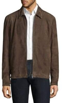 Theory Shirt Collar Leather Jacket