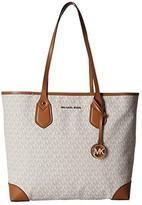 MICHAEL Michael Kors Eva Signature Large Tote (Vanilla) Tote Handbags