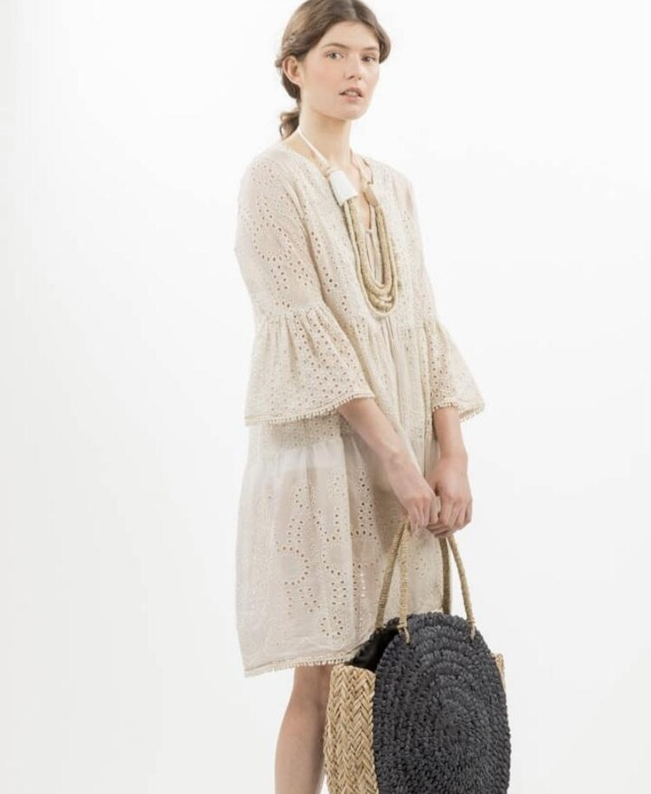 Thumbnail for your product : Margaux Broderie Summer Kaftan Short Dress - L/XL