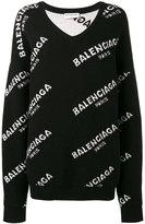 Balenciaga New logo sweater - women - Wool - 40