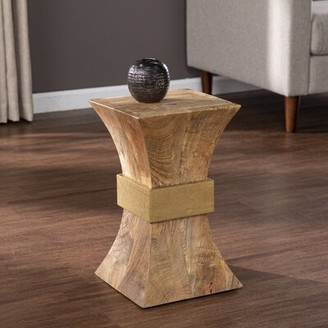 Millwood Pines Pedestal End Table