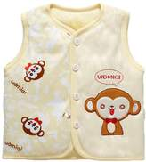 Monvecle Baby Organic Cotton Warm Vests Unisex Infant to Toddler Light Padded Waistcoat 6-9m