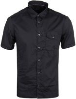 Cp Company Navy Short Sleeve Button-down Shirt