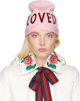 Gucci Pink Wool Loved Beanie