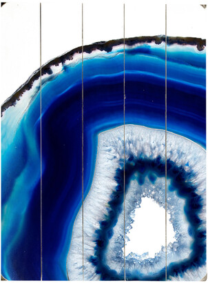 One Bella Casa Geode Abyss Silver Planked Wood Wall Decor By Obc