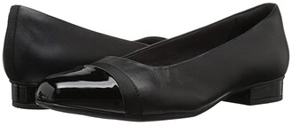 Clarks Juliet Monte (Black Leather/Synthetic) Women's Shoes