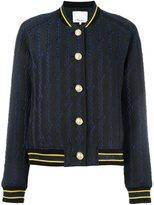 3.1 Phillip Lim brocade varsity bomber jacket - women - Cotton/Acrylic/Nylon/other fibers - 8