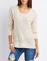 Charlotte Russe Slub Knit Scoop Neck Sweater
