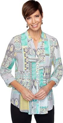 Ruby Rd. Women's Polynesian Patchwork Top