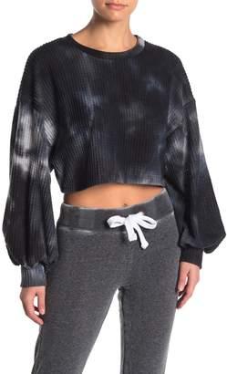 Electric Yoga Kate Waffle Knit Tie Dye Top
