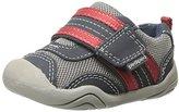 pediped Grip-N-Go Adrian Sneaker (Toddler),Navy/Grey/Red,20 EU (5 M US Toddler)