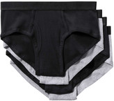 Joe Fresh Men's 4 Pack Briefs, Black (Size L)