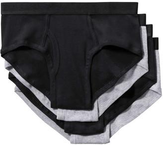 Joe Fresh Mens 4 Pack Briefs, Black (Size M)