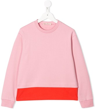 Marni Contrast Hem Sweatshirt