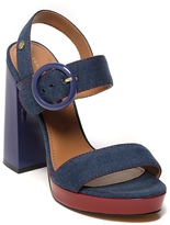 Tommy Hilfiger Final Sale- Denim Platform Sandal