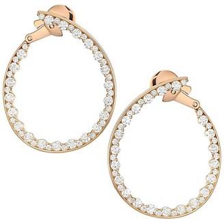 Plevé Statement 18K Rose Gold Diamond Forward-Facing Large Hoop Earrings