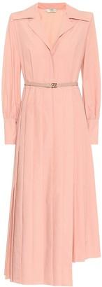 Fendi Asymmetric cotton shirt dress